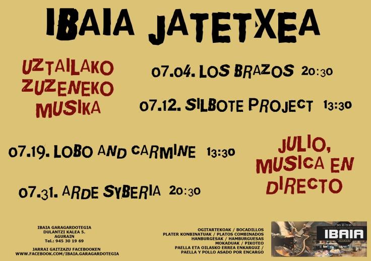 Julio Ibaia Garagardotegia Música