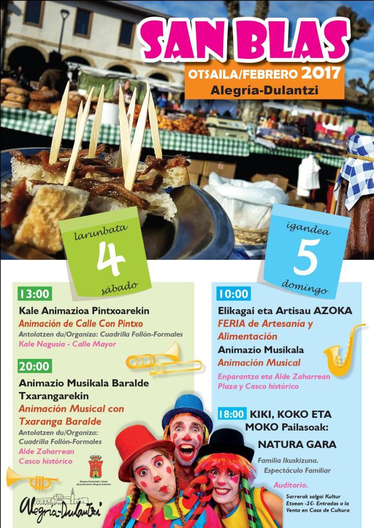 Feria San Blas Alegria Dulantzi
