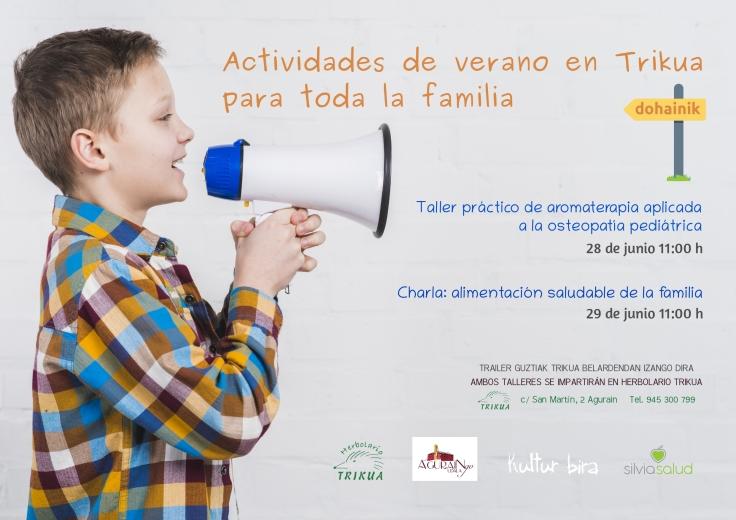 Cartel Herbolario Trikua Alimentación Saludable Aromaterapia niños niñas