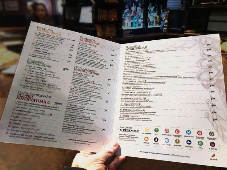 Kilkenny Irish Pub Carta