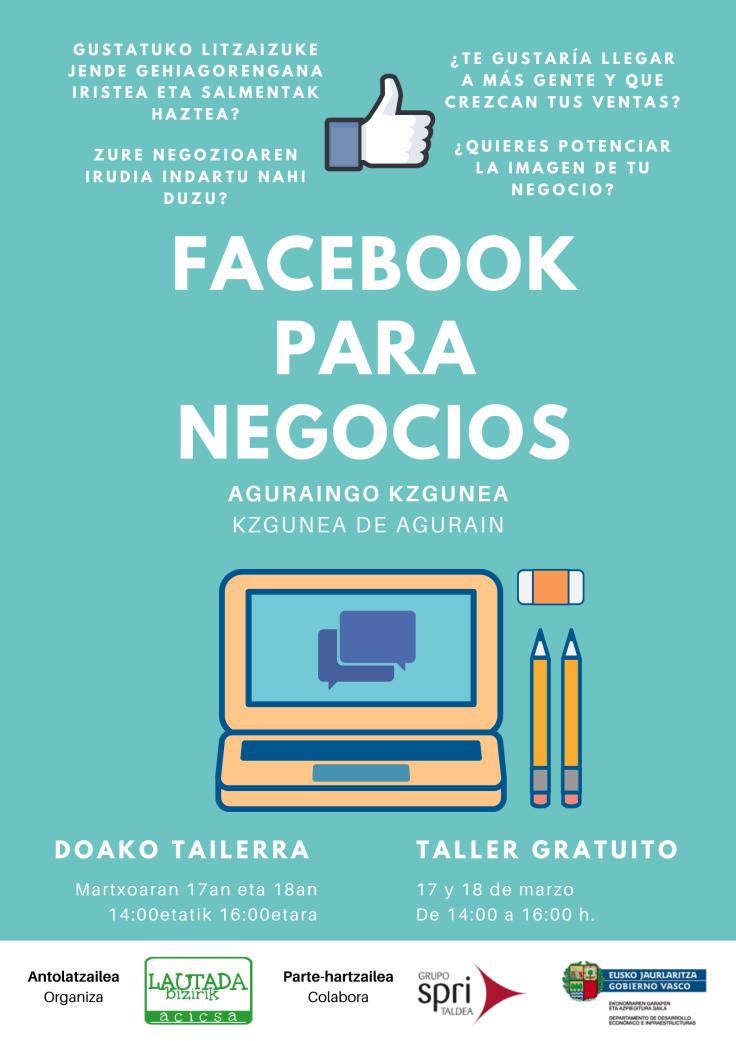 Cartel Facebook para negocios